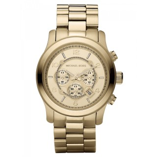 Runway Oversized Gold Tone Watch