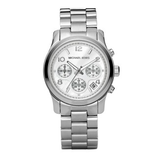 Runway Silver Tone Chronograph Watch