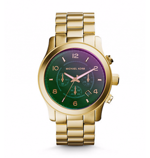 Runway Flash Lens Gold Tone Watch