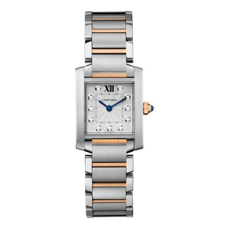 Cartier Watches - Tank Francaise Medium - Steel and Pink Gold